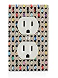 Colorful Records DVD Music Movies Pattern Electrical Outlet Plate