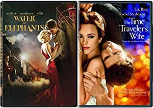 Time Travelers Wife & Water for Elephants DVD 2 Pack Romantic Drama Movie Set