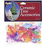 "Ceramic Christmas Tree Bulb .625"" 100/Pkg-Flame-Multi"