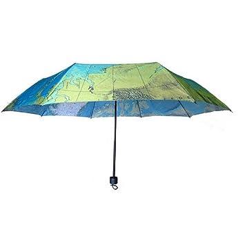 Jessie paraguas de acero Pongee paraguas plegable a prueba de viento 3 plegables a prueba de