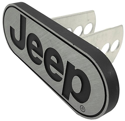 Jeep Logo Car Metal Brushed Chrome Hitch Plug Receiver Cover Plasticolor 2258R01