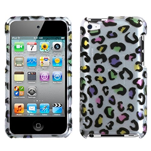 MYBAT Colorful Leopard(2D Silver) Phone Protector Faceplate Cover For APPLE iPod touch(4th generation)