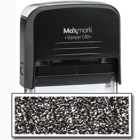 MaxMark Identity Theft Protection Stamp - Large Side with 2 Replacement Pads