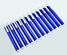Pentel Tri Eraser - Retractable 3 Sided Erasers, Blue Holder (Quantity of 12)