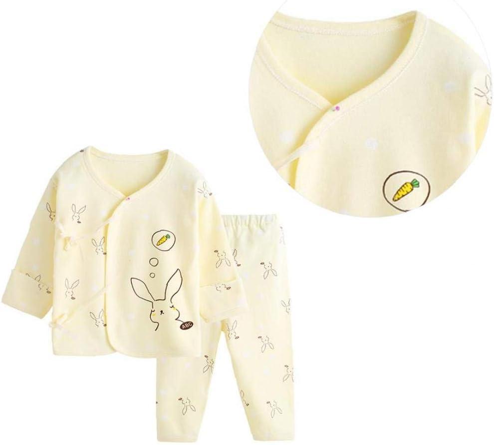 V/êtements Pour B/éb/é 2 Pi/èces Set /à Manches Longues Cartoon Ours Motif Tenues B/éb/é Unisexe Respirant Pyjama En Coton T-Shirt Et Pantalon Rose 59 Cm