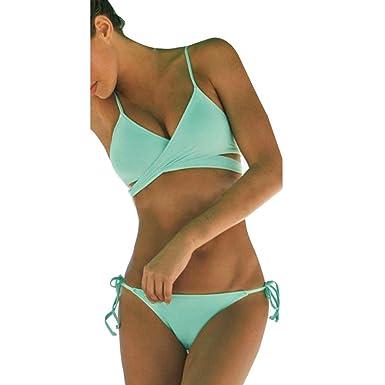 9d5687b685305 Beachwear, BSGSH Women Sexy Push Up Padded Bra Bandage Bikini Set Swimsuit  Triangle Bathing Suit