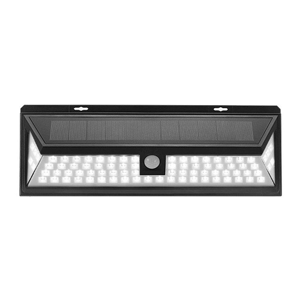 JIGUOOR Solar Lights 80LEDs,2835 SMD Solar Power Outdoor Security Night Light for Garden 、Yard、 Pathway、 Wall 、Patio、 Deck Steps 、with Motion Sensor Light PIR Wireless Waterproof Lamp