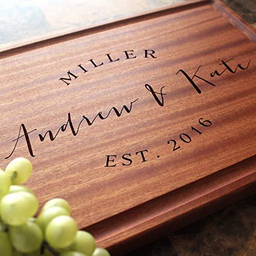 - Personalized Cutting Board, Custom Keepsake, Engraved Serving Cheese Plate, Wedding, Anniversary, Engagement, Housewarming, Birthday, Corporate, Closing Gift #026