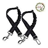 World Backyard Pet Dog Seat Belt Leash Adjustable Vehicle Safety Leads Elastic Nylon Bungee Buffer 2 Pack