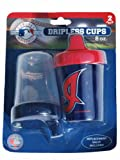 Cleveland Indians Haddad Accessories 2-Pack 8 oz. Red Blue Dripless Sippy Cups