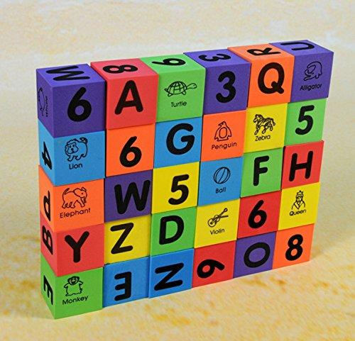 Verdes 30 Pcs Alphabet & Numbers Foam Blocks by Verdes