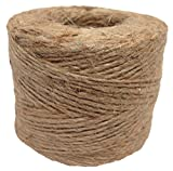 Jute Twine (12 Pack) - SGT KNOTS - 100% All-Natural Jute Fibers - Emergency Fire Starter String - All-Purpose Crafting Twine - for Home Improvement, Gardening, Camping, DIY Projects, More (285 feet)