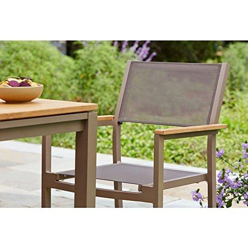 Barnsdale Teak 7 Piece Patio Dining Set Amazon Co Uk Garden Outdoors