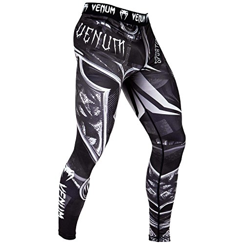 Venum Gladiator 3.0 Spats - Black/White - L, Large (Gi Gladiator)