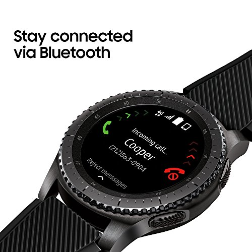 Large Product Image of Samsung Gear S3 Frontier Smartwatch (Bluetooth),  SM-R760NDAAXAR – US Version with Warranty