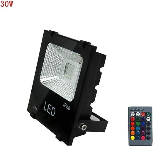 XEX Foco LED Proyector, Luz Impermeable para Exteriores De Color Verde para Jardín, con Cambio De Color RGB A Prueba De Agua, Al Aire Libre (Color : 30W): Amazon.es: Hogar