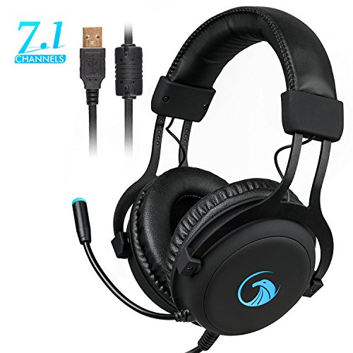 NPET S018 Pro 7.1 Chroma Gaming Headphone with Sound and USB Gaming Headset Noise Cancelling Over Ear Headphones with 360° Retractable Digital Hi-Fi Microphone and Chroma Lighting For Sale