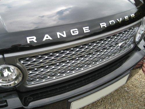 emblema para Range Rover Sport Vogue L322 Evoque cromo emblema letras Bonnet/Boot: Amazon.es: Coche y moto