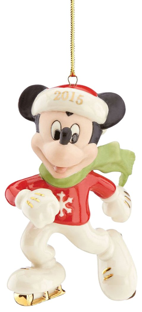 Amazoncom Lenox 2015 Disneys Off to the Rink Mickey Ornament