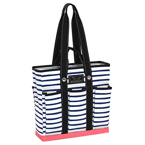 Scout Pocket Rocket, Large Tote Bag for Women with 6 Exterior Pockets and Interior Zippered Compartment, Perfect Utility Tote Bag with Pockets for Teachers and Nurses (Multiple Patterns Available)