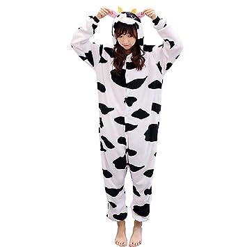 DUKUNKUN Pijamas De Leche De Adultos Pijama De Vaca Traje De Franela Juego De Roles para