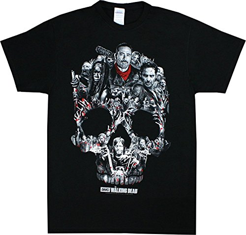 the-walking-dead-mens-skull-montage-t-shirt-black-xl