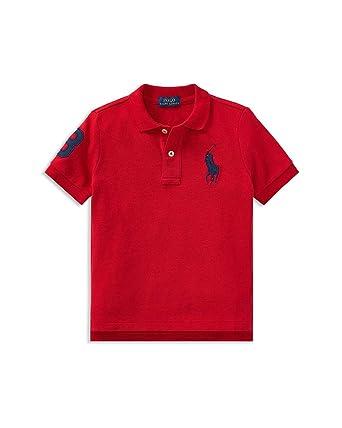 bc07134a Ralph Lauren Baby Boy Big Pony Cotton Mesh Polo Shirt, Red (18 Months)