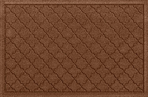 Bungalow Flooring Waterhog Doormat, 2' x 3', Skid Resistant, Easy to Clean, Catches Water and Debris, Cordova Collection, Dark Brown