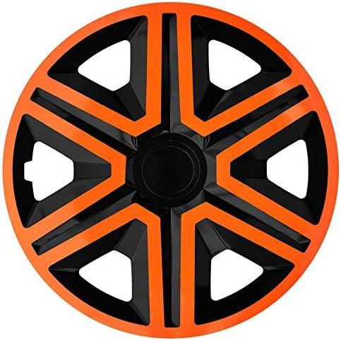 Nrm Radkappen Action Orange Schwarz 15 Zoll 4 X Universal Radzierblenden Radkappen Auto