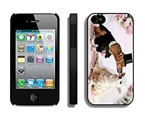 Slim Iphone 4s Black Case Cute Dogs Wedding Pets Kiss Durable Soft Silicone Phone Back Cover for Iphone 4