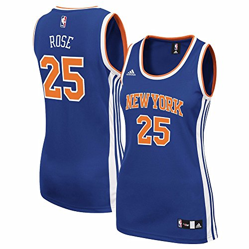 NBA Women's New York Knicks Derrick Rose Replica Player Away Jersey, 2X-Large, Blue