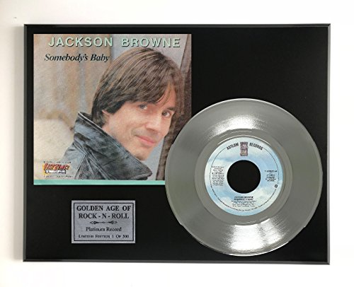 Jackson Browne - Somebody's Baby LTD EDITION PLATINUM 45 DISPLAY - Stores Jackson Outlets At