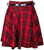 PurpleHanger Womens Tartan Check Short Mini Flared Skater Skirt