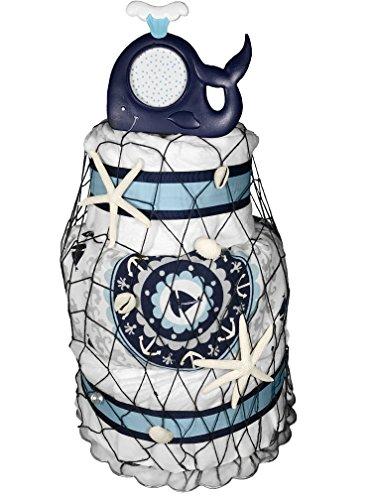Nautical Diaper Cake Shower centerpiece product image