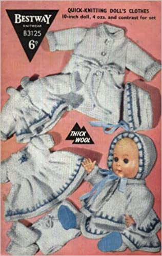 c157e051ed27 Bestway Vintage Knitting Pattern 3125   Full Layette for Baby Doll ...