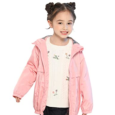7d2896138 Amazon.com: SOLOCOTE Girls Spring Jacket Hooded Light Outwear with ...