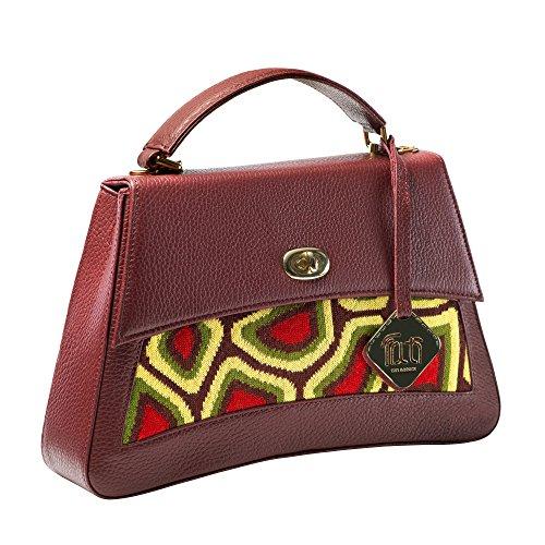 Green Designer Jasper Boduch Tati Genuine Handbag Knitwear Leather Brown Collection qRpxB