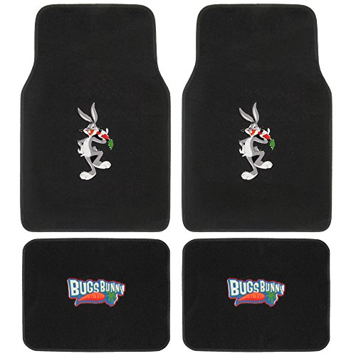 looney-tunes-bugs-bunny-carpet-floor-mats-for-car-4-piece-front-rear-set-cartoon-design-auto-accesso