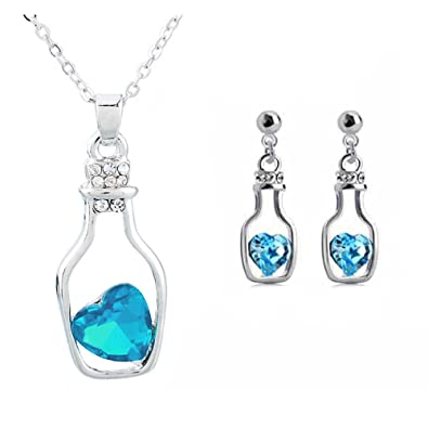 0fbb3cb4d7 Buy Avarta Radiance Fashion Jewellery Pendant Set With Swarovski Crystal  For Girls And Women Online at Low Prices in India | Amazon Jewellery Store  ...
