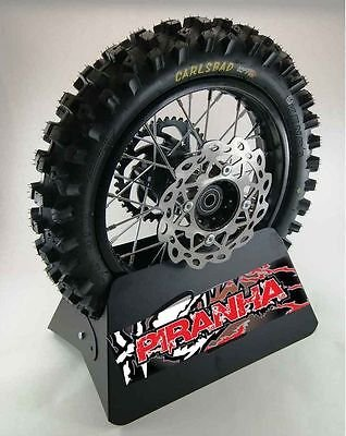 "Piranha 12"" Piranha Pit Bike Rear Wheel Rim Tire Sprocket Disc"