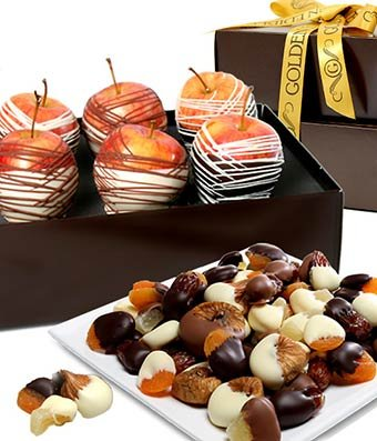 From You Flowers - Decadent Chocolate Covered Fruit Gift Tower (7 Pieces)
