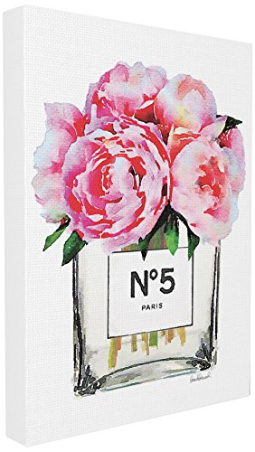- Stupell Industries Glam Paris Vase with Pink Peony Oversized Stretched Canvas Wall Art, Proudly Made in USA