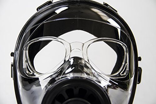 (Mestel Safety - Optical Lens Support Accessory for SGE Full-face Gas Masks, Anti-Gas Respirator Masks - Color Black)