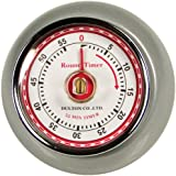 Fox Run Retro Kitchen Timer with Magnet, Silver