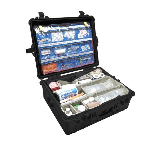 Pelican 1600 Case With Lid Organizer and Dividers (Black)