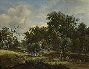 The Perfect effect canvas of oil painting 'Meindert Hobbema A Stream by a Wood ' ,size: 24 x 31 inch / 61 x 78 cm ,this High quality Art Decorative Prints on Canvas is fit for Nursery artwork and Home decor and Gifts