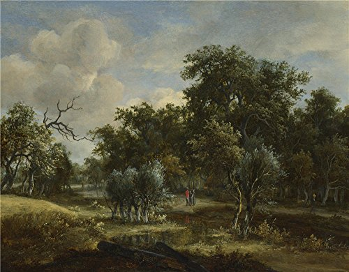 [Oil Painting 'Meindert Hobbema A Stream By A Wood', 8 x 10 inch / 20 x 26 cm , on High Definition HD canvas prints is for Gifts And Gym, Hallway And Home Theater Decoration,] (Minion Costume Falls Over)