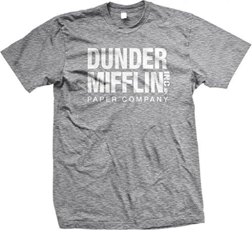 Dunder Mifflin Paper Inc T-Shirt, The Office T-Shirts, TV Show T-Shirts, Gray, - T-shirt Grey Ash Cute
