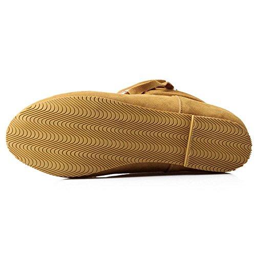 COOLCEPT Damen Bootie Ohne Verschluss Hidden Heel Yellow