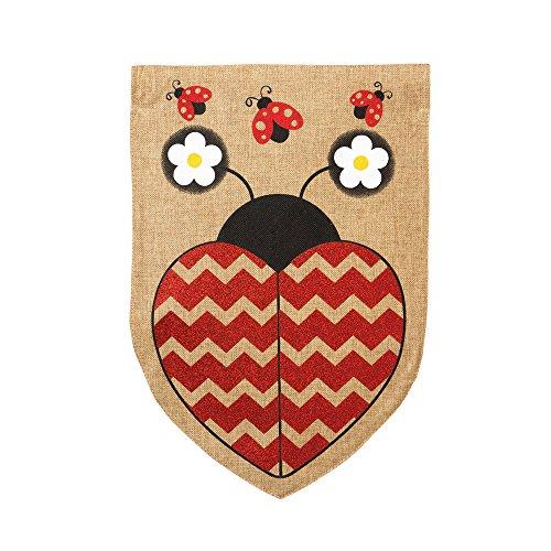 Evergreen Enterprises Love Ladybug 2-Sided Garden Flag